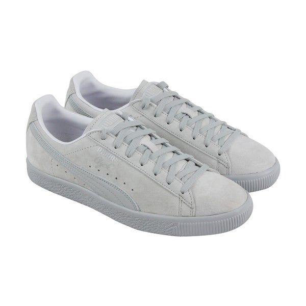 Shop Puma Clyde Normcore Mens Gray Suede Lace Up Sneakers Shoes ... 23dc27a57
