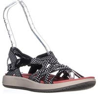 BareTraps Woods Strappy Athletic Sandals, Black/White - 9 us