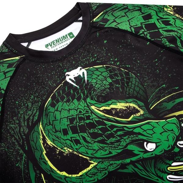 Black//Green Venum Green Viper Short Sleeve Compression Rashguard