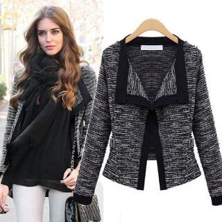 Fashionable Women 's Cotton Long Sleeve Short Jacket
