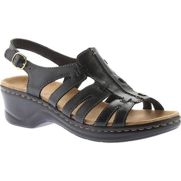 5f386f62afdf Shop Clarks Women s Lexi Marigold Sandal Black Leather - Free ...