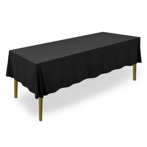 "60 x 126"" 20-Pack, Premium Tablecloths - Black by Lann's Linens - 60 x 126 inches"