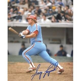 Greg Luzinski signed Philadelphia Phillies 8x10 Photo