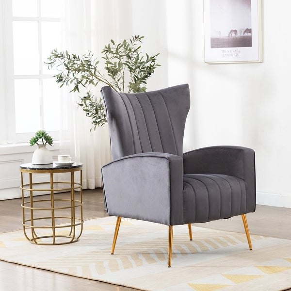 Elegant Wingback Chair. Opens flyout.