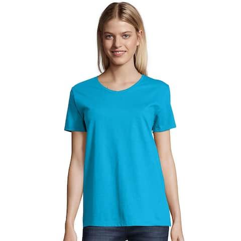Hanes Women's ComfortSoft Short Sleeve V-neck Tee (2-pack)