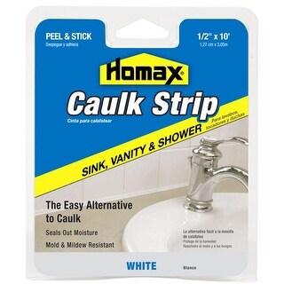 Homax 34038 Wall & Counter Caulkstrip, White, 10'