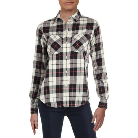 Lauren Ralph Lauren Womens Rimnan Casual Top Plaid Button Front - XS