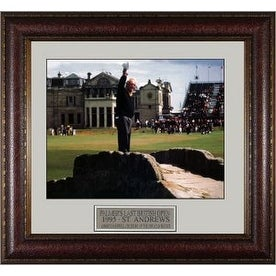 Arnold Palmer unsigned 1995 Last British Open 11x14 Photo Leather Framed