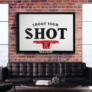 IKONICK Shoot Your Shot Canvas Art
