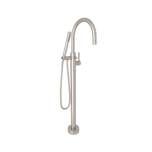 Rohl M1687 Avanti Floor Mounted Tub Filler With Built In Diverter    Includes Personal Hand