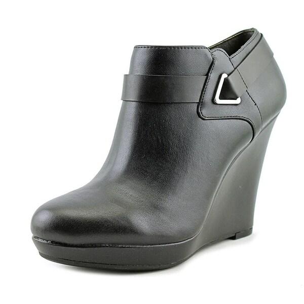 Bar III Tigerp Women Open Toe Leather Black Platform Heel