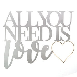 All You Need Is Love Metal Word Wall Decor