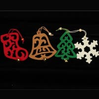 Club Pack of 20 Stocking, Bell, Snowflake and Tree Assorted Colors Felt Ornaments - multi