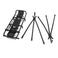 Black Aluminum Alloy Rear Tail Seat Luggage Carrier Bracket for Bicycle Bike