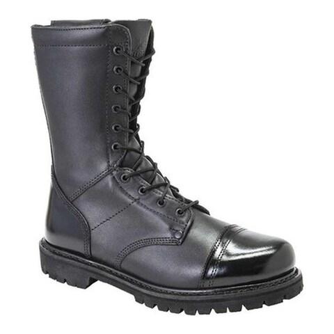 """Rocky Women's 10"""" Zipper Paraboot 4090 Black Leather"""