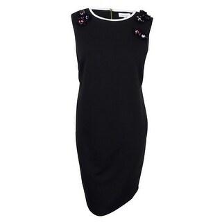 Calvin Klein Women's Plus Size Embellished Sheath Dress - Black - 20W
