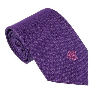 Versace Purple Woven Dotted Tie