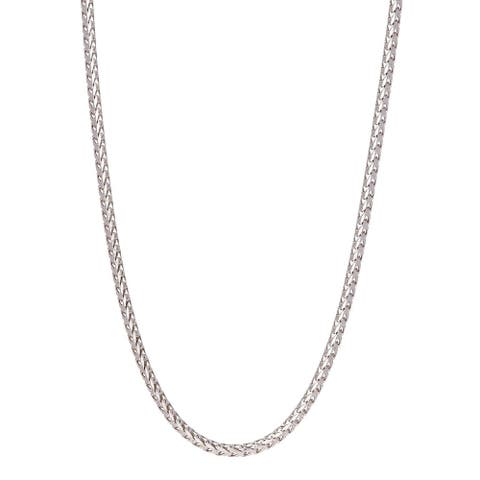 Pori Jewelers Sterling Silver High Polished 3MM Franco Chain
