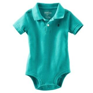 OshKosh B'gosh Baby Boy's Piqué Polo Bodysuit, 12 Months
