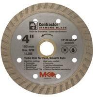 """MK Diamond 167020 Mk-99 Arbor Turbo Rim Diamond Blade, 4"""""""