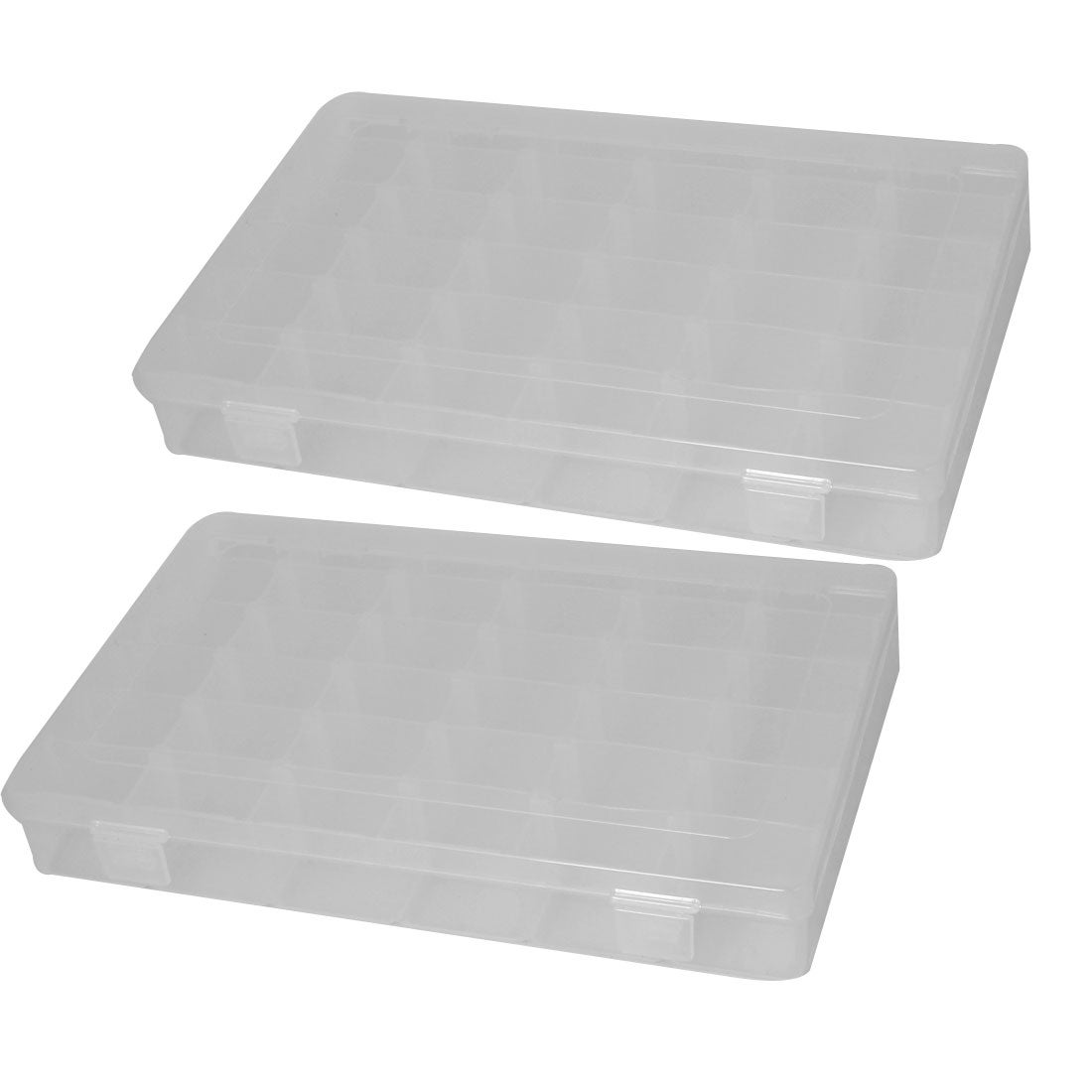 Plastic Case 36 Compartments Fishing Lure Bait Storage Angling Tackle Box 2PCS