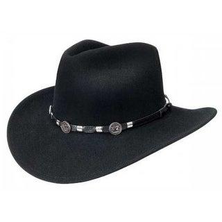 Jack Daniels Token Soft Wool Crushable Cowboy Hat, Black JD03-104