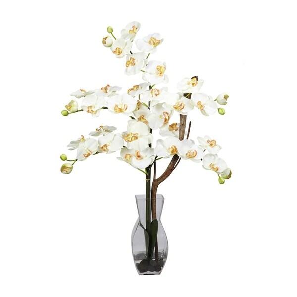 Nearly Natural Phalaenopsis with Vase Silk Flower Arrangement