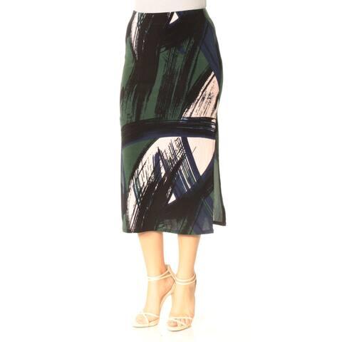 KIIND OF Womens Black Printed Midi Skirt Size S
