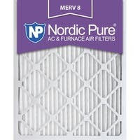 Nordic Pure 12x20x1 Pleated MERV 8 AC Furnace Air Filters Qty 3