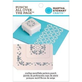 Martha Stewart Punch All Over The Page Pattern Punch-Scallop Snowflake, 1.5""