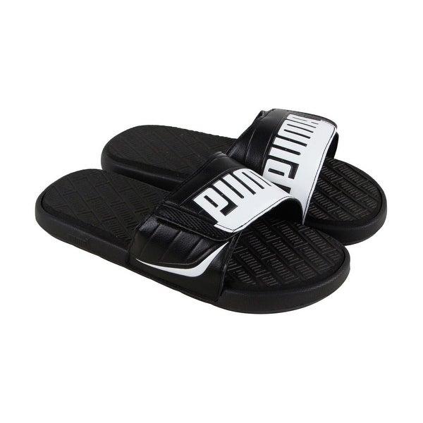 4da7387d684e Shop Puma Starcat Bold Plus Mens Black Leather Flip Flops Slip On Sandals  Shoes - Free Shipping On Orders Over  45 - Overstock - 22516151