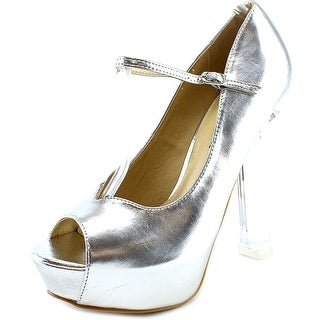 Wild Diva Mimosa-01 Women Open Toe Synthetic Platform Heel