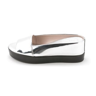 French Connection Womens PEPPER Leather Open Toe Slide Flats
