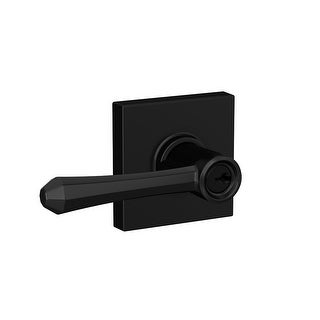 Schlage F51A-DMP-COL  Dempsey Single Cylinder Keyed Entry Door Lever Set with Collins Trim