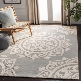 Link to Safavieh Handmade Bella Abby Modern Floral Wool Rug Similar Items in Transitional Rugs