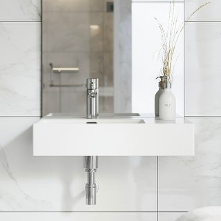 """Link to Swiss Madison SM-WS322 St. Tropez 24"""" x 18"""" Ceramic Wall Hung Sink with Left Side Faucet Mount - 7'6"""" x 9'6"""" Similar Items in Sinks"""