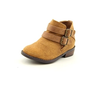 Madden Girl Kest Toddler  Round Toe Canvas Brown Ankle Boot