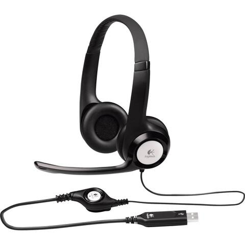 Logitech ClearChat Comfort/USB Headset H390 - Black (Certified