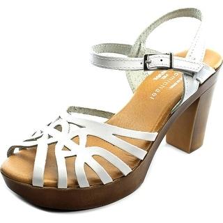 Eric Michael Rosie Women  Open Toe Leather White Platform Sandal