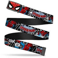 Marvel Comics Spider Man Face Close Up Fcg  Chrome Spider Man In Web Belt