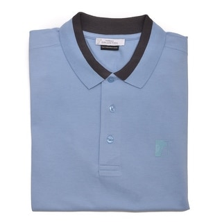 Versace Men's Cotton Medusa Logo Polo Shirt Blue