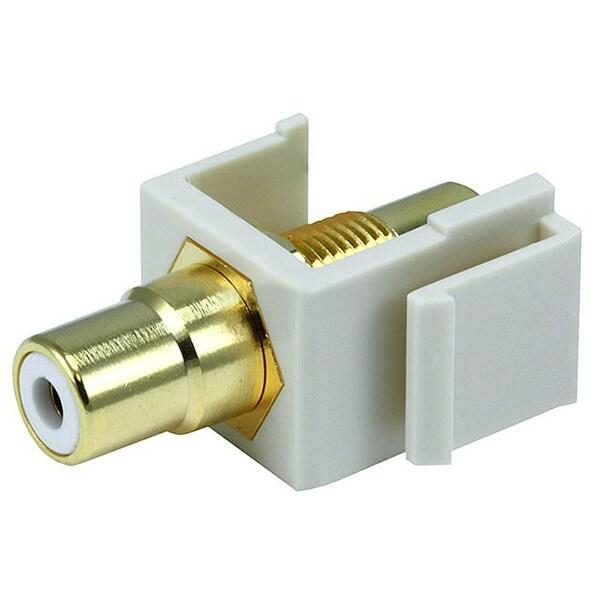 Monoprice Modular RCA Coupler Keystone Jack w/White Center - Ivory