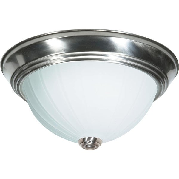 "Nuvo Lighting 60/447 2 Light 13"" Wide Flush Mount Bowl Ceiling Fixture - Brushed nickel"