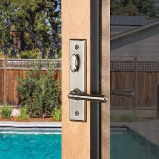 Baldwin SD004.PRIV Concord Privacy Screen Door Mortise Lever Set from the Estate