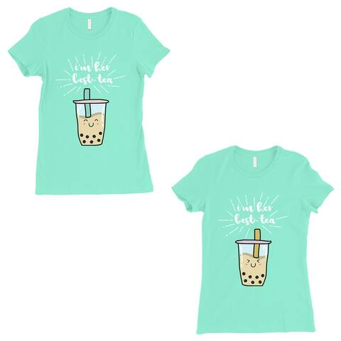 Boba Milk Best-Tea BFF Gift Matching Shirts Womens Mint T-Shirt