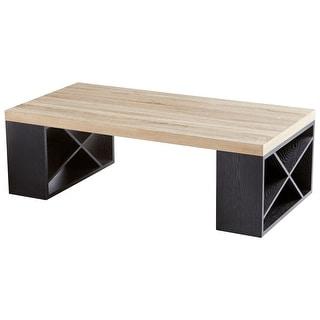 "Cyan Design 09891  Lemland 47-1/4"" Long Wood Coffee Table - Oak / Black"