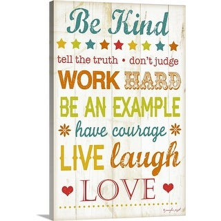 """Be Kind"" Canvas Wall Art"