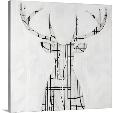 """Gridlock"" Canvas Wall Art"