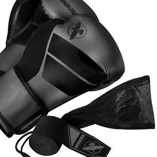 Hayabusa S4 Beginner Boxing Glove Kit with Handwraps and Wash Bag - Charcoal