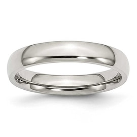 Chisel Polished Stainless Steel Ring (4.0 mm)